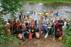 На старте лагеря-похода по реке Яурин