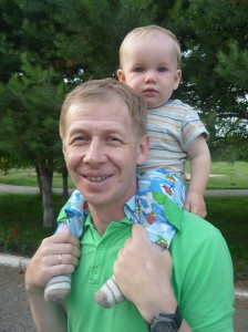 Верин-Галицкий Д.В. с сыном Костей. Июль 2012 г.
